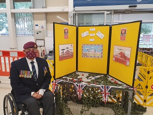 VJ Day Display Board in Tesco